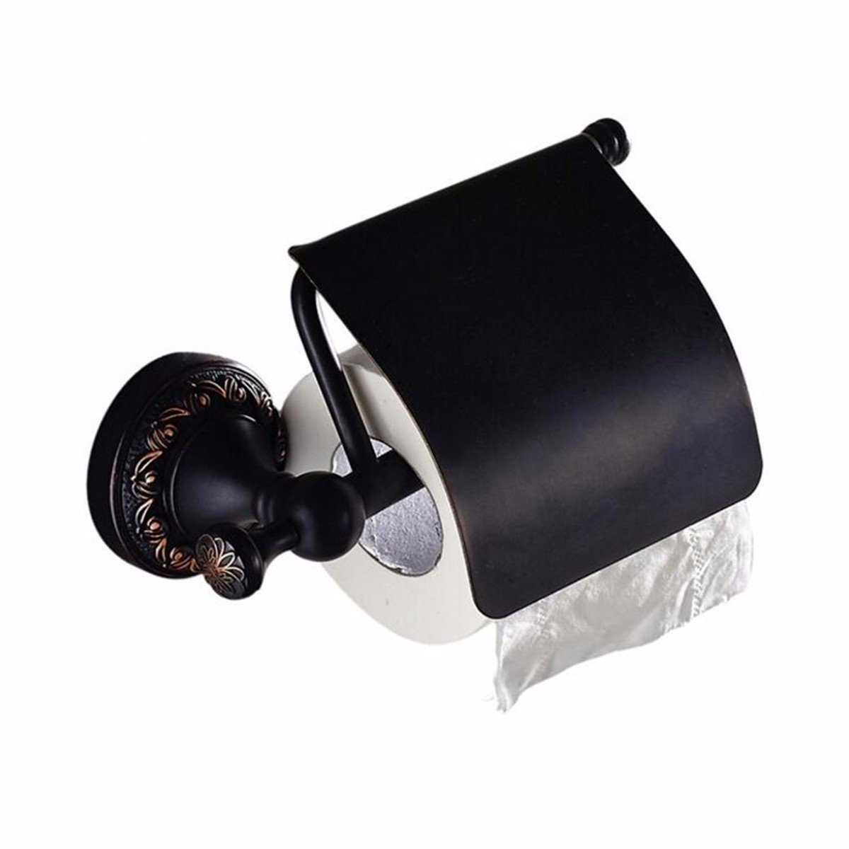 SJQKA Toilet Paper Holders European Bath Full Copper Black Antique Paper Towel Box Roll Paper Frame Toilet Paper Box Toilet Toilet Black Bronze Paper Towel Rack,B