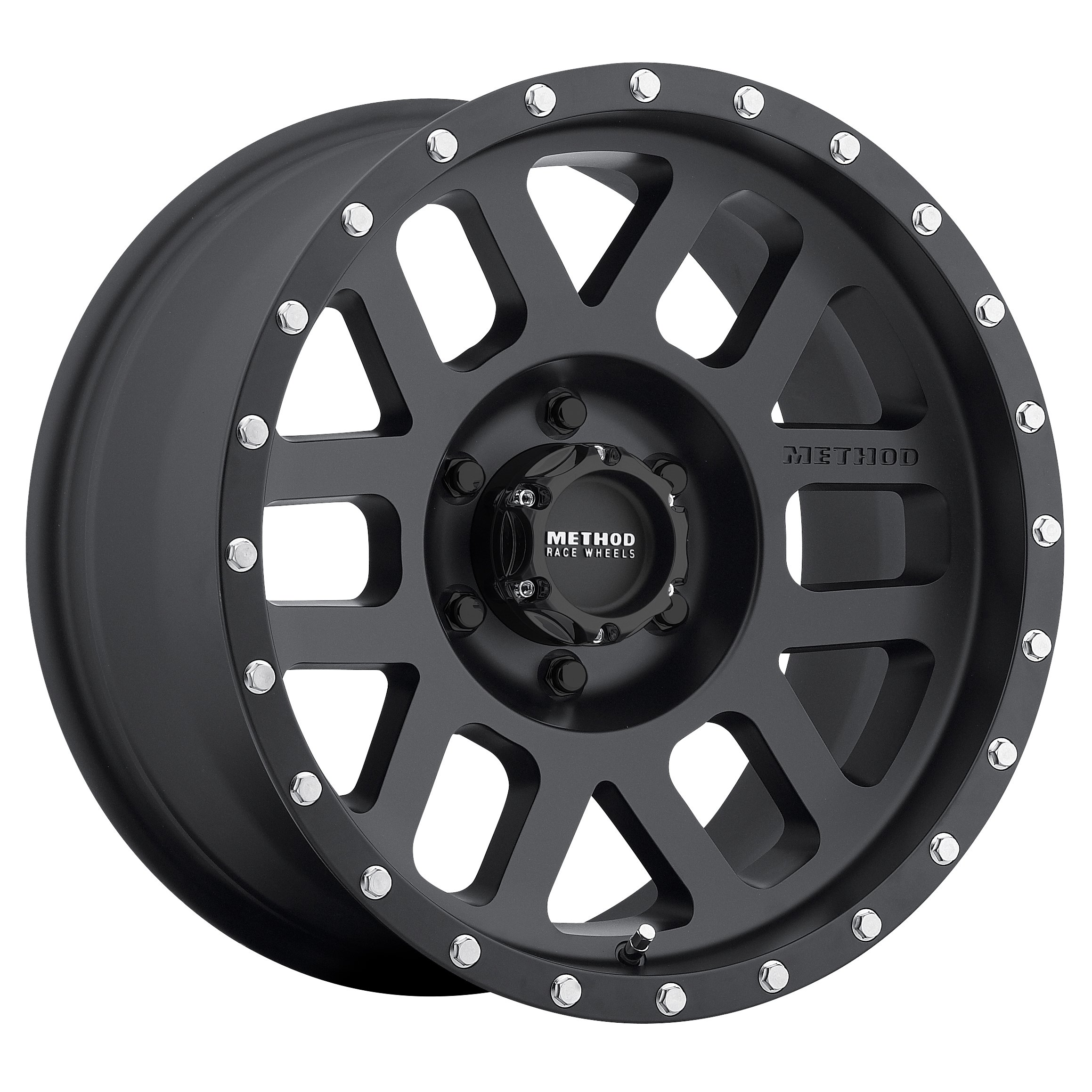 """Method Race Wheels Mesh Matte Black Wheel with Stainless Steel Accent Bolts (18x9""""/8x6.5"""") -12 mm offset"""