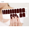 Latest Full Cover Transfer Nail Foil Sticker Art Sexy Red Yellow Blood Marble Stone Nail Wraps Sticker Manicure Water Decals
