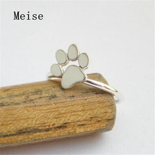 Yiwu Meise Paw Print Ring Stainless Steel Cat or Dog Paw Ring