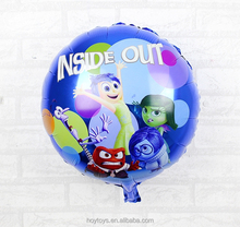 American cartoon inside out minion foil balloon