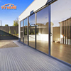 YY Home heavy duty aluminium double glass sliding door