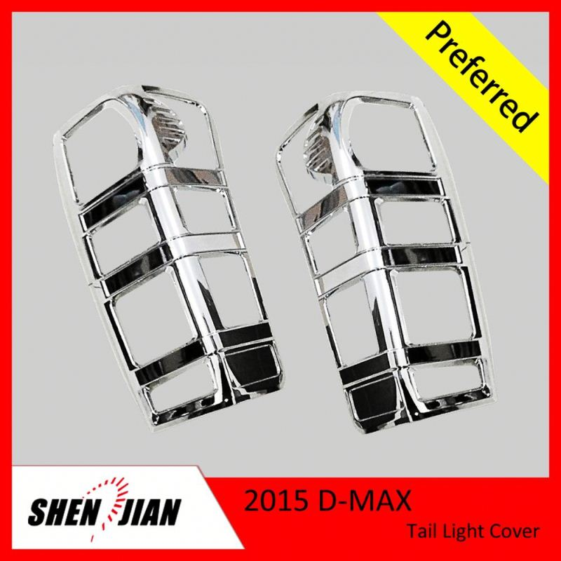 Exterior Car Accessories by Carbon Fiber or Chrome Tail light cover For D-MAX pickup body chrome cover dmax 4x4 accessories