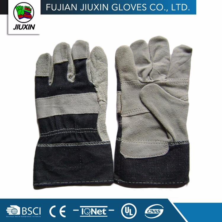 Cheap Many Colors Available Cow Split Leather Glove For Labor Working