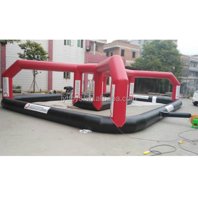 2018 factory price inflatable go kart race track outdoor inflatable track race for bumper car