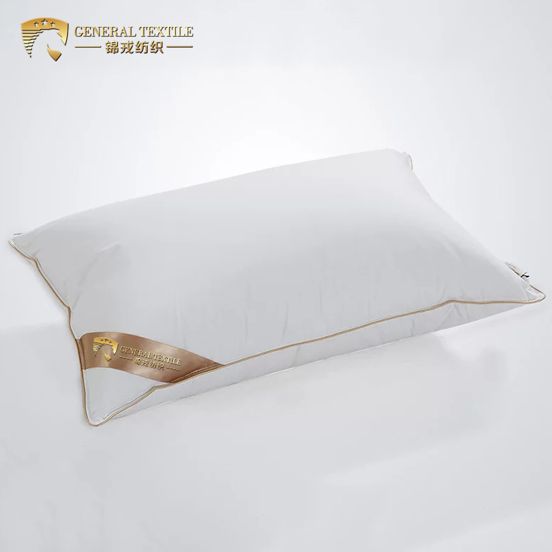Cheapest king size Comfortable Goose/Duck Down Feather Pillow with golden Side
