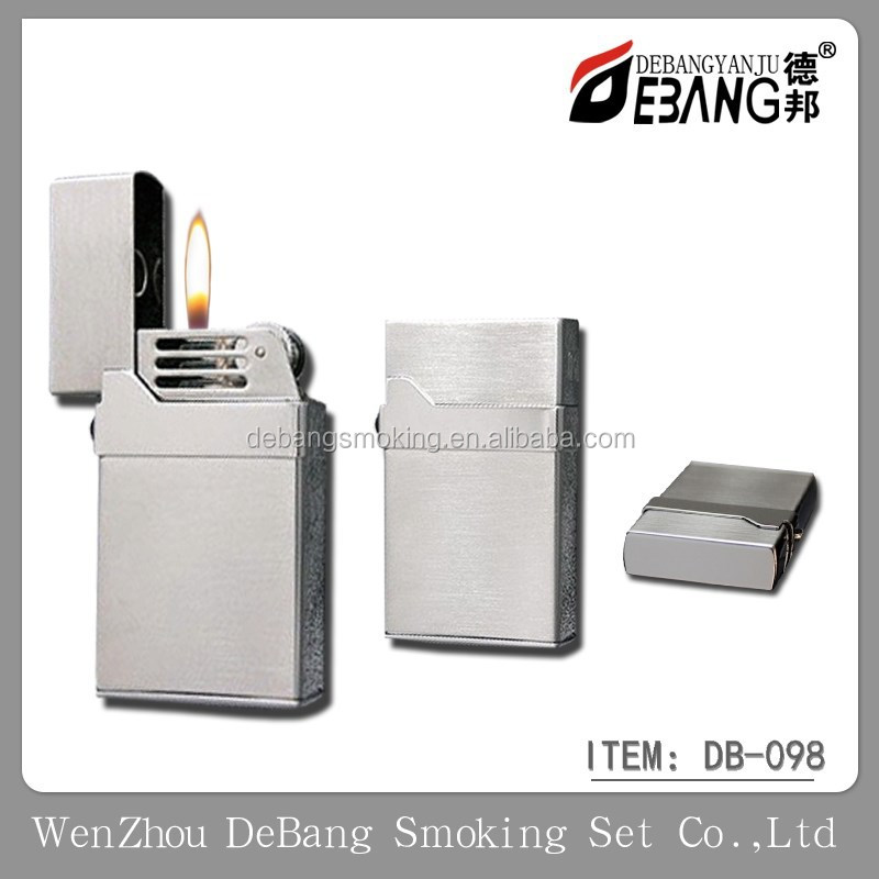 Wholesale gas refillable flame metal king lighter