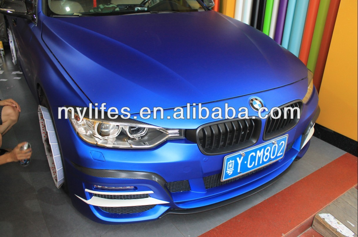 wholesale blue matte vinyl car wrap matte adhesive film. Black Bedroom Furniture Sets. Home Design Ideas