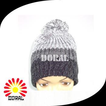 Alibaba No Minimum Custom Black Knit Hat  Beanie  Winter Cashmere Hat  Embroidered Logo 2017 78e46f4a20e