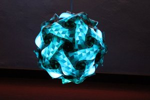 New arrival wholesale IQ puzzle lamp iq jigsaw lights Medium size PP puzzle lampshade