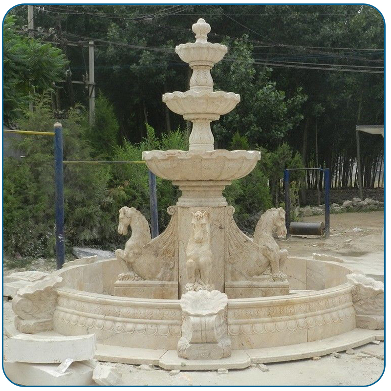 Outdoor Large Size White Marble Winged Horses Water Fountain   Buy Outdoor  Water Fountain,Water Fountain Garden,Large Size Water Fountain Product On  ...