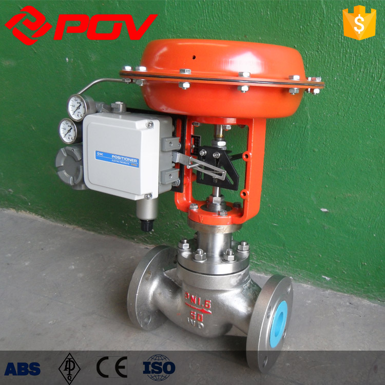 0-10v water level flow pneumatic control valve