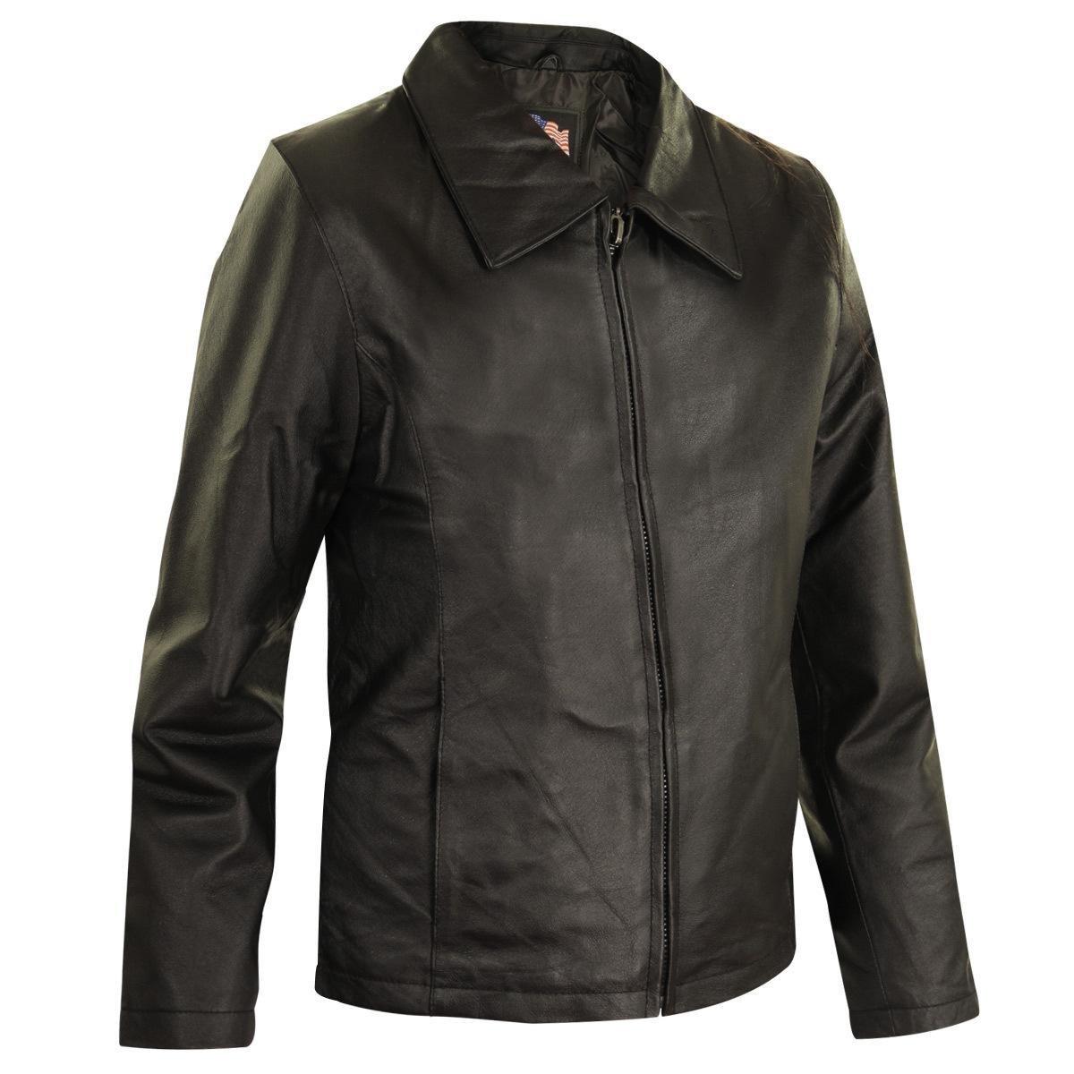 USA Leather Womens Black Leather Jacket - 2X-Large