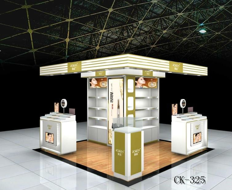 Makeup Stand Designs : High end cosmetic mall kiosk makeup display showcase cosmetic