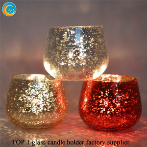 Fragrance Soy Wax Scented Candle in cracked Glass Holder