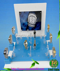 watch display stand with picture clear watch display holder C shape watch display stand