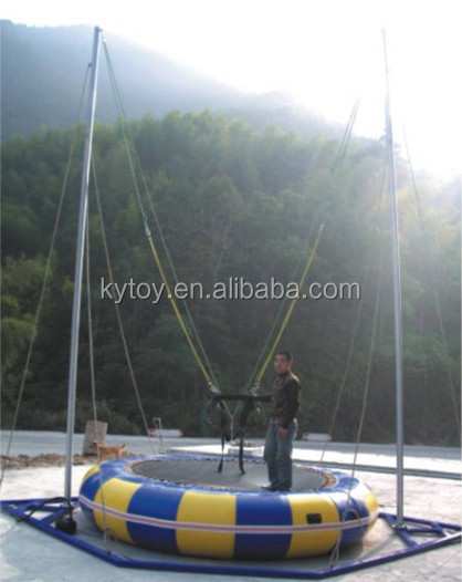 Hot sale single outdoor bungee trampoline price,bungee trampoline for sale usa