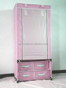 Robe Dubai Bedroom Free Standing Half Height Assemble Plastic Portable Wardrobe  Closet