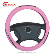 Hot sales premium quality pink set auger glitter girly steering wheel cover