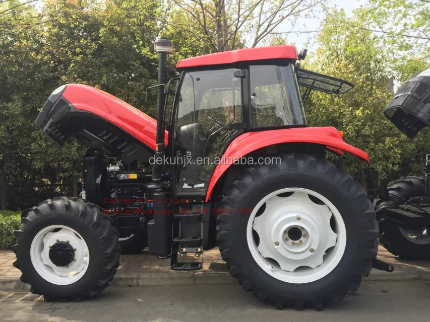 Universal Carraro Axle 100HP~220HP Cheap Price Farm AC Cabin Tractor With Mulcher For Sale