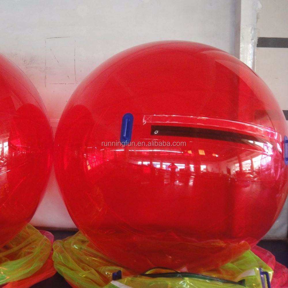Red inflatalbe water walking ball pool