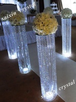 chic wedding flower gate decoration with light crystal stand