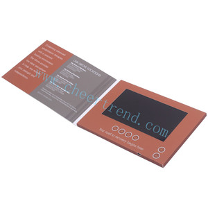 Chinese supplier mini lcd video brochure card / invitation card lcd