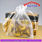 Custom high end quality white organza potpourri pouches lavender packaging bags
