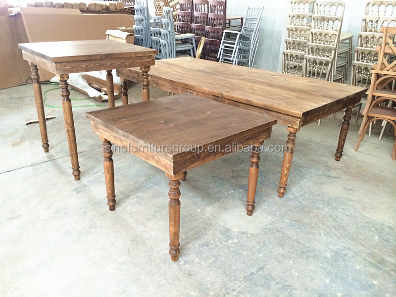 Solid wood antique dining farm table