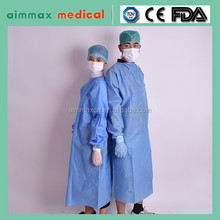 Disposable SMS Blue Surgical Gown, Medical Gown Sterilization Health & Medical