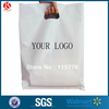 3mil gusset bags clear HDPE Plastic die cut handle shopping bags