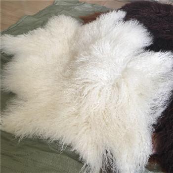 Real Tibetan Sheep Fur Sofa Throw Covers