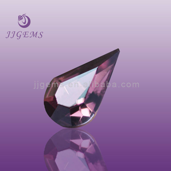 quality purplish red drop grade aaaaa cubic zirconia
