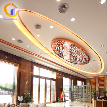 cheapest to install stainless steel plafond hall pop decorative interior ceiling material false stainless steel ceiling - Cheapest Ceiling Material