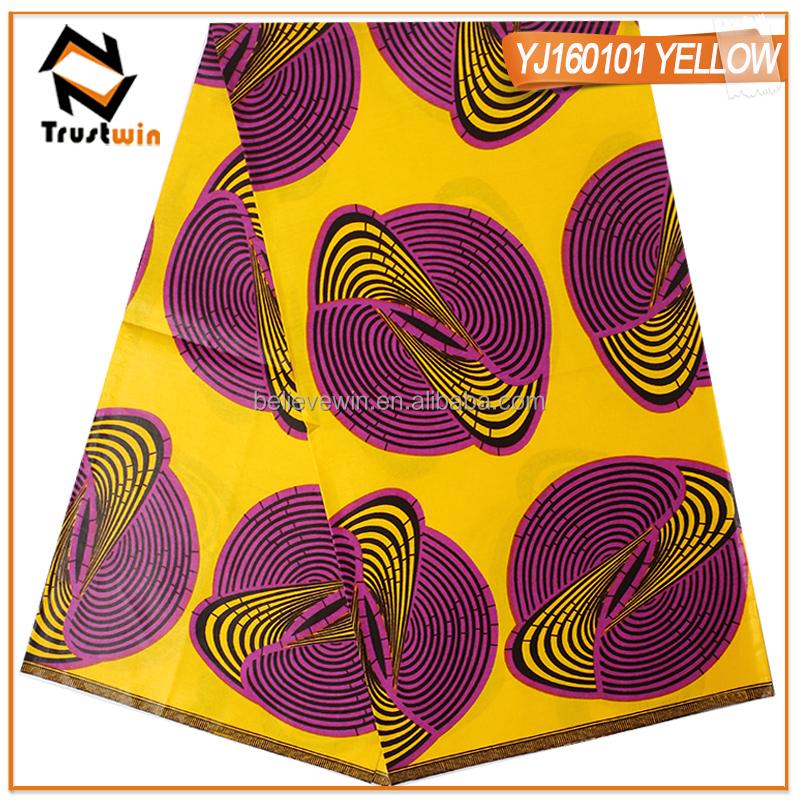 b4b0eeadc07c Design di alta moda 100% cotone ankara tessuto cera stampe con il prezzo  all'
