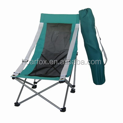 Elastic net folding chair with carry bag