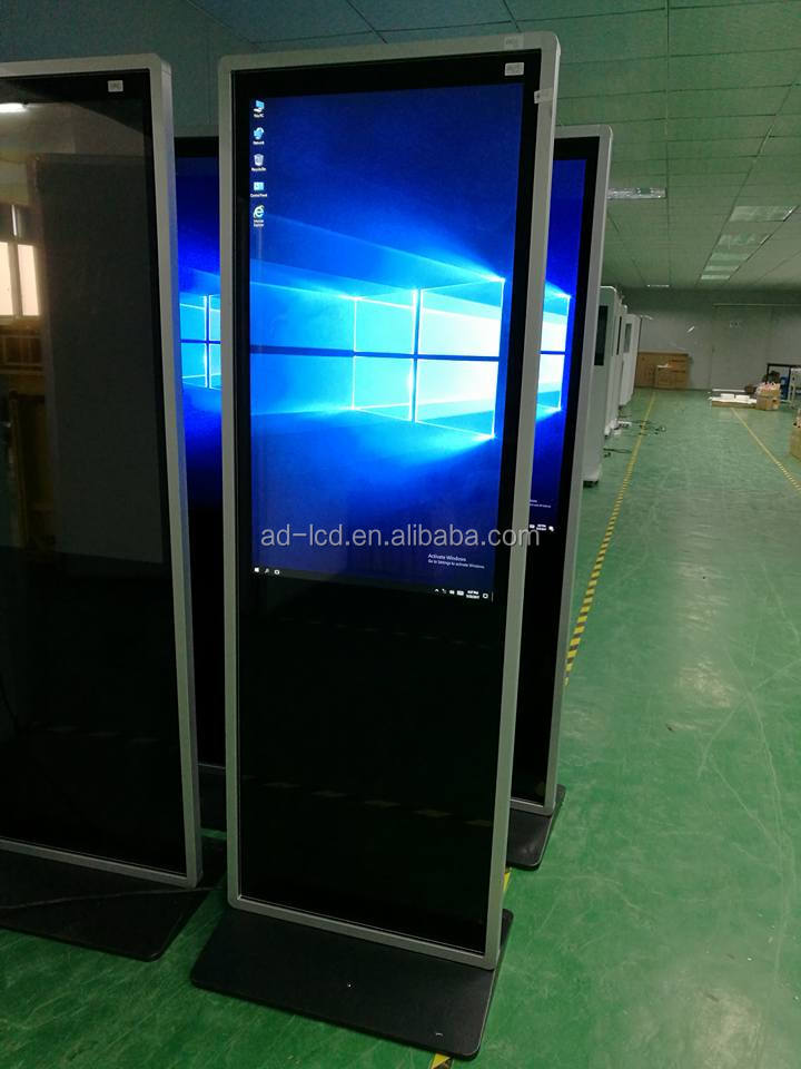 HD 43/47/49/55 inch Indoor free standing advertising display screen TFT lcd digital signage