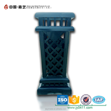 Factory customized outdoor cast iron dustbin with ashtray