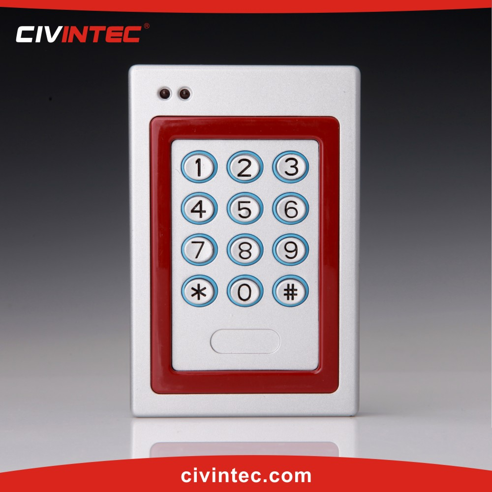 TCP/IP Waterproof Keypad Access Control enclosures working with RFID card, Mifare, 125KHz proximity card reader writer