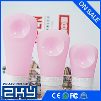Silicone travel bottle Portable Soft Silicone Travel Bottles Set Refillable Cosmetic Containers