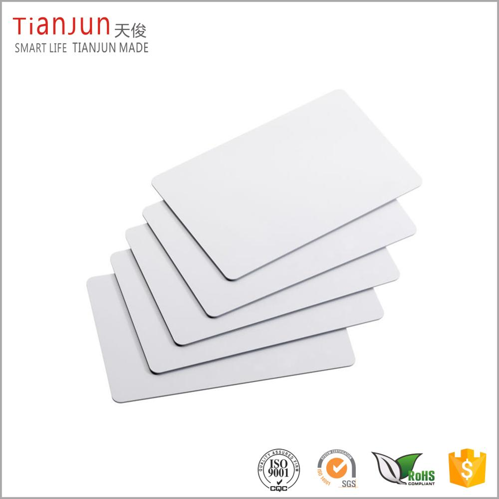white blank inkjet pvc chip cards with logo custom lowest price in shenzhen