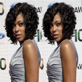 New Products Short Curly Lace Front Bob Wig For Black Women Curly