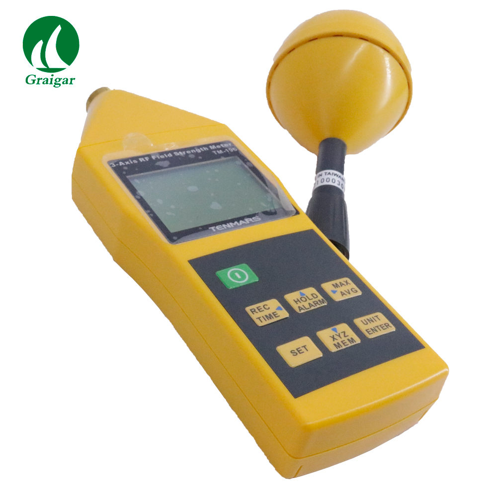 New Tenmars TM-196 EMF Meter 3 Axis Electrosmog RF Field Microwave Frequency range: 10MHz~8GHZ Sampling 2.5 times per second