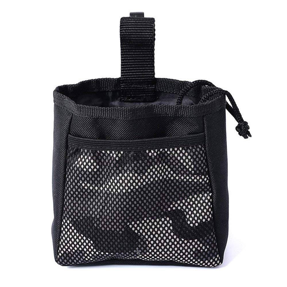 SODIAL Portable Dog Training Treat Bags Puppy Snack Reward Waist Bag Doggie Feed Pocket Pouch Pet Behaviour Training Bag gray