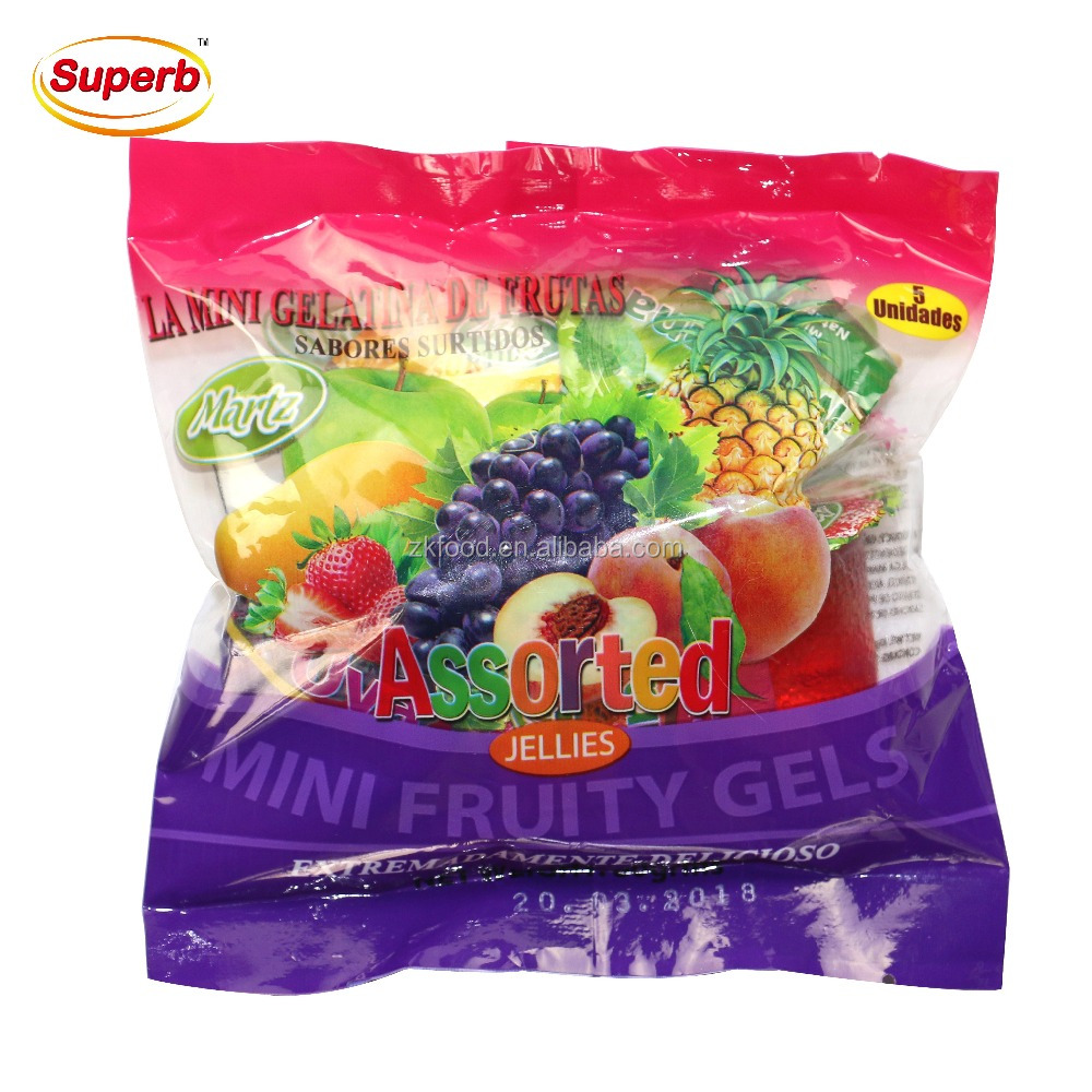 5 PCS OEM sweet jellies halal mini fruit jell with your logo