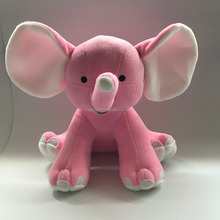 plush and stuffed elephant toys with big ears,Free sample Cute Plush Colorful Elephant Soft Stuffed Wild Animal Toy With Big Ear