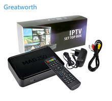 UK hottest box MAG250 IPTV set top box Europe USA Canada Arabic Africa 3000+ channels MAG 250 pk mag254