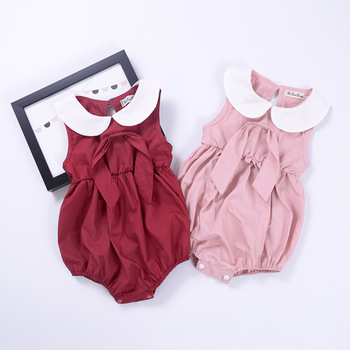 Western High Quality Hot Sale Organic Cotton Baby Rompers Wholesale