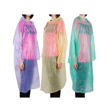 Fashion bulk disposable rain pincho with printing