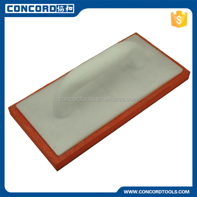 plastic handle High density orange color masonry float sponge plastering trowel